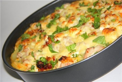 Запеканка из куриной грудки с овощами